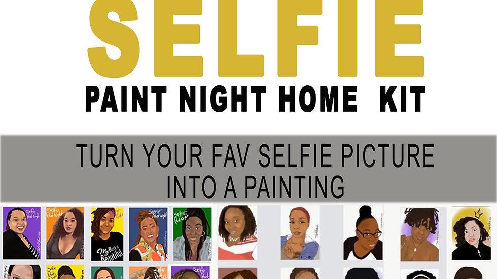 """Selfie"" Paint Night Home Kit"