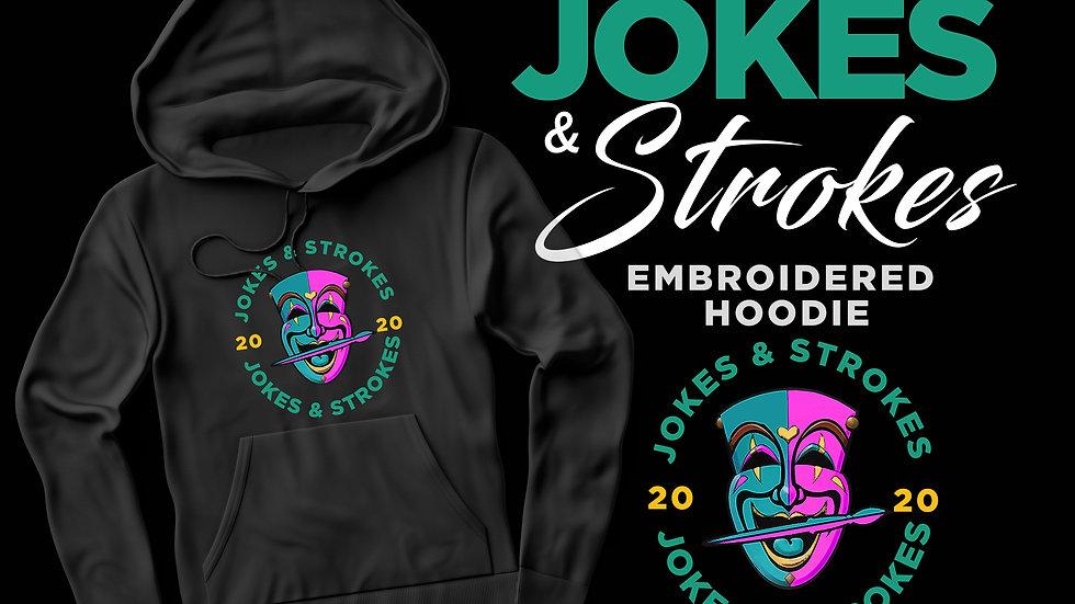 ***PREORDER*** Jokes & Strokes Embroidered Logo Hoodie