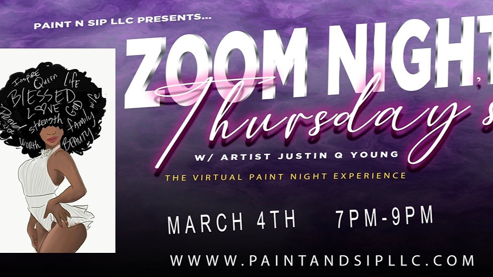 (March 4th Zoom) AFFIRMATION PAINT NIGHT
