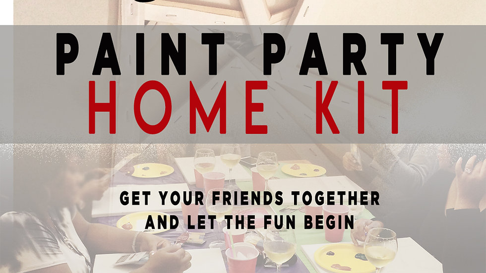 adult Paint Party HOME KIT