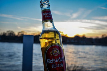 Beer and sunset a perfact combo, Bonn, Germany
