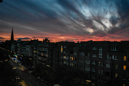 A view from the balcony, Berlin