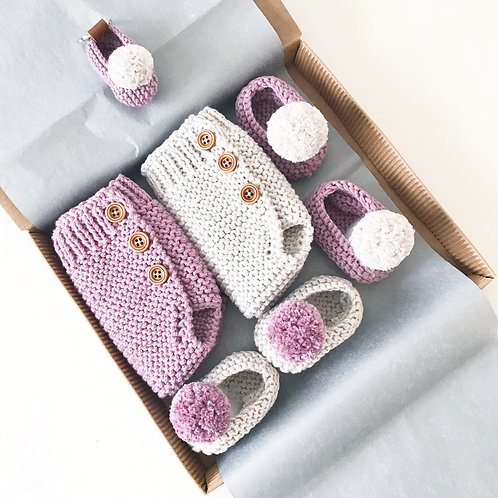 Pack 2 ranitas+2 slippers+llavero / Pack 2 bloomers+2 slippers+keychain
