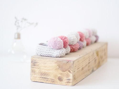 Slippers con pompón de algodón