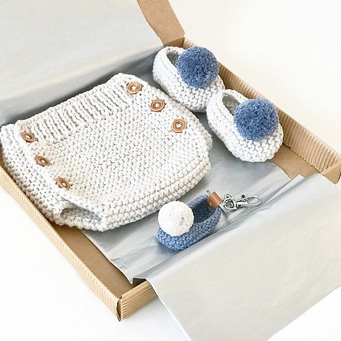 Pack ranita+slippers+llavero / Pack bloomer+slippers+keychain