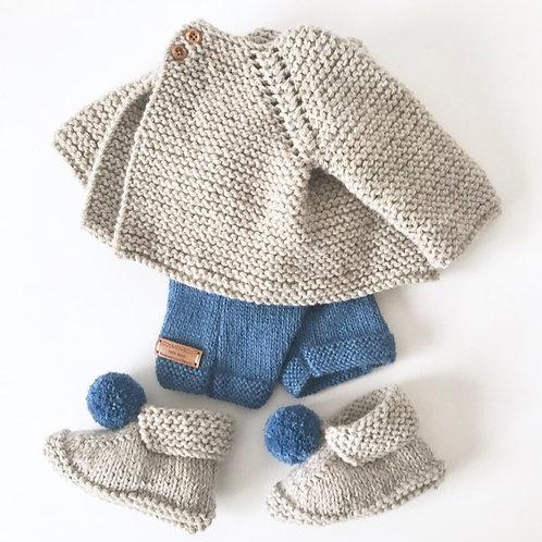 Short con tirantes, Talla 9 meses, color azulón