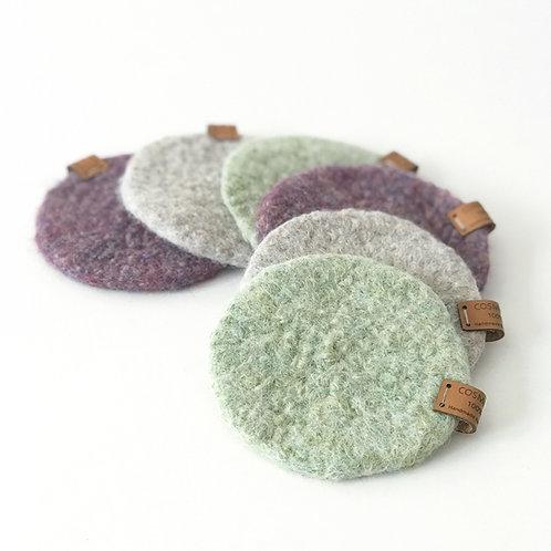 Posavasos de lana (6 uds.)