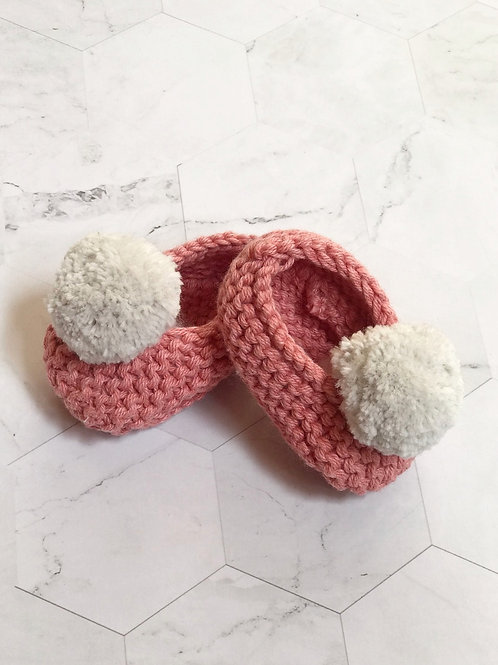 Slippers coral, talla 6-9 meses