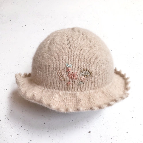 Sombrero trigo T. 3-6 meses