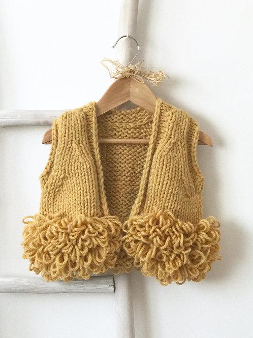 Chaleco boho de lana mostaza / Wool boho mustard waistcoat