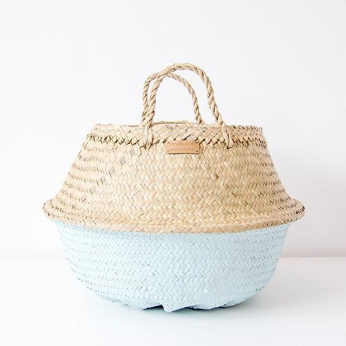 Cesto pintado Agua con forro / Aqua wicker basket