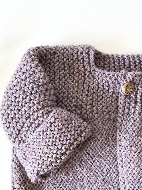 Chaqueta unisex de lana lavanda / Wool unisex lavender jacket