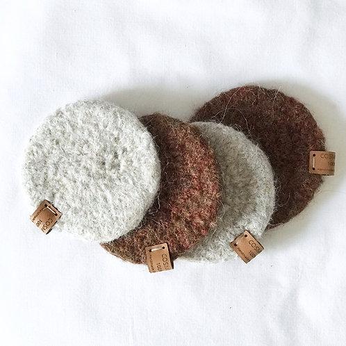 Posavasos de lana (4 uds.)