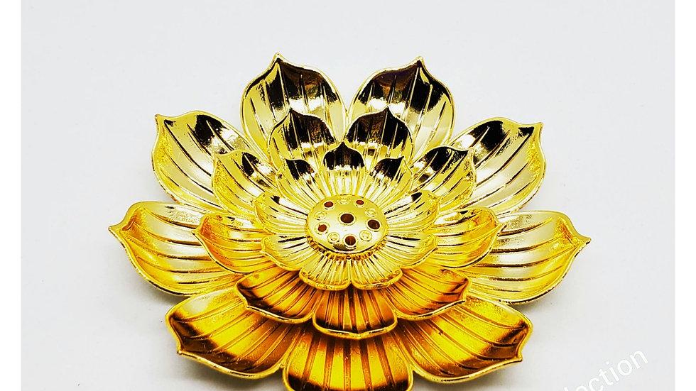 GOLD LOTUS FLOWER INCENSE HOLDER