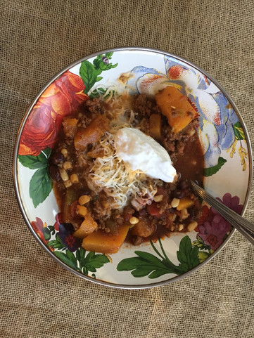 Clean Sweet And Spicy Butternut Squash Chili