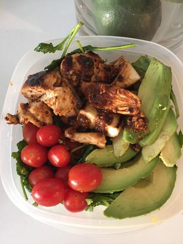 Honey Mustard Chicken And Avocado Salad