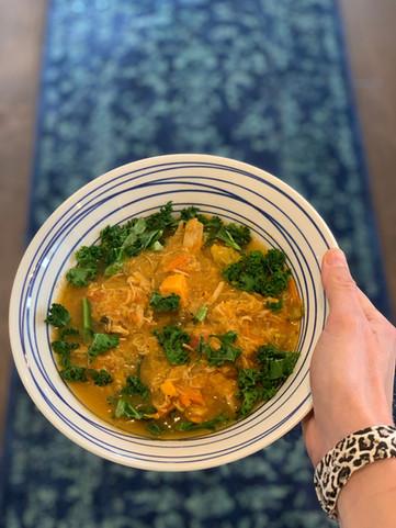 Veggie Loaded Roasted Chicken Soup