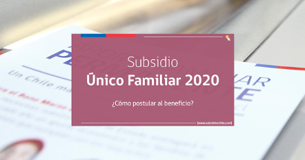 Subsidio Familiar 2020.
