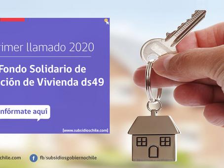 Compra de una casa o departamento sin crédito hipotecario. (subsidio DS49 2020.