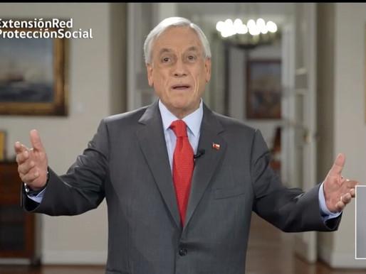 Presidente Piñera anuncia nuevo paquete de medidas de ayuda por US$6 mil millones.