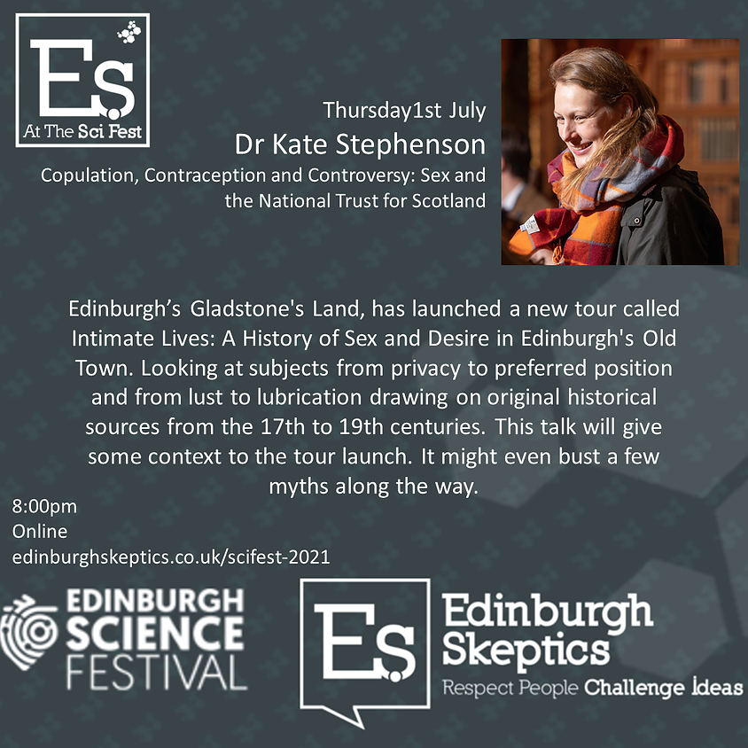 Dr Kate Stephenson- Copulation, Contraception and Controversy: Sex and the NTS