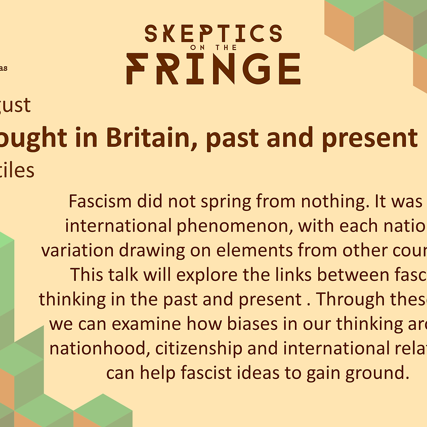Dr Victoria Stiles - Fascist Thought in Britain, Past and Present