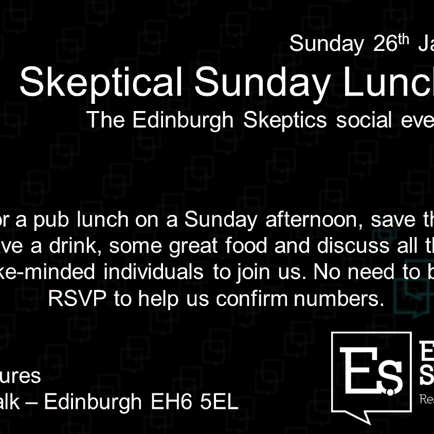 Skeptical Sunday Lunch - Please note new venue!