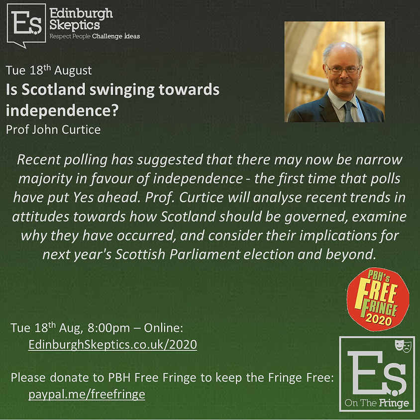 Prof. John Curtice - Is Scotland swinging towards independence?