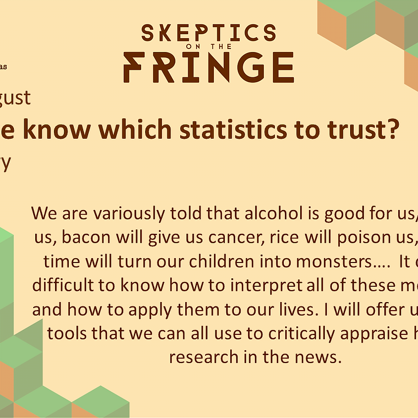 Dr Sarah Berry - How do we know which statistics we can trust?