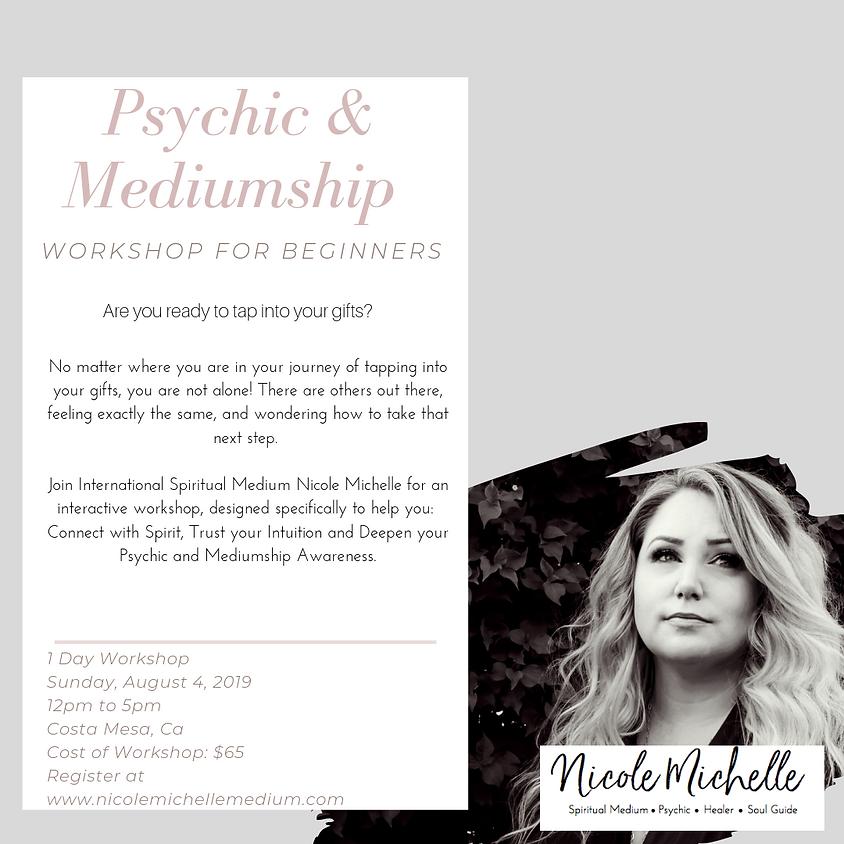 Beginners Psychic & Mediumship Workshop