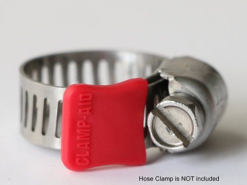 """CLAMP-AID® Hose clamp end guards for 5/16"""" wide bands Color: Red"""