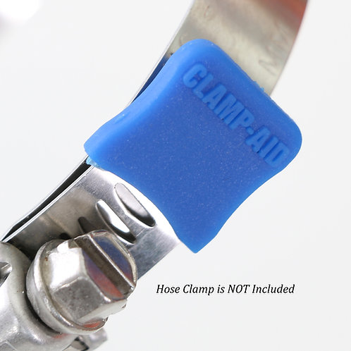 "20 CLAMP-AID® Hose clamp end guards for 1/2"" to 9/16"" wide bands Color: Blue"