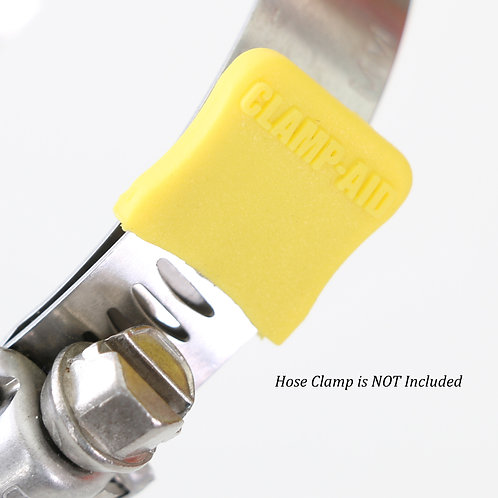 "20 CLAMP-AID® Hose clamp end guards for 1/2"" to 9/16"" wide bands Color: Yellow"