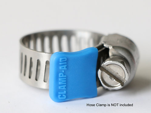 "CLAMP-AID® Hose clamp end guards for 5/16"" wide bands Color: Blue"