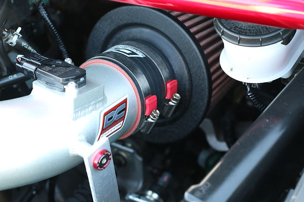 DC Cold air intake Honda civic si with performance hose clamps and Clamp aid end covers