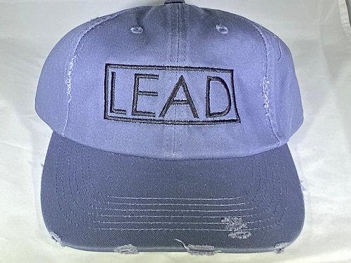 Navy Blue Distressed Dad Hat