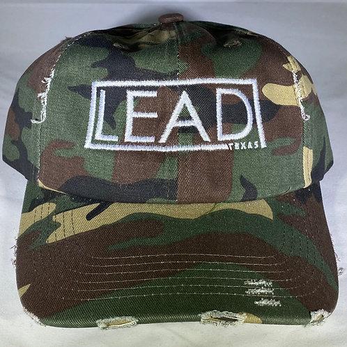Distressed Camo Dad Hat