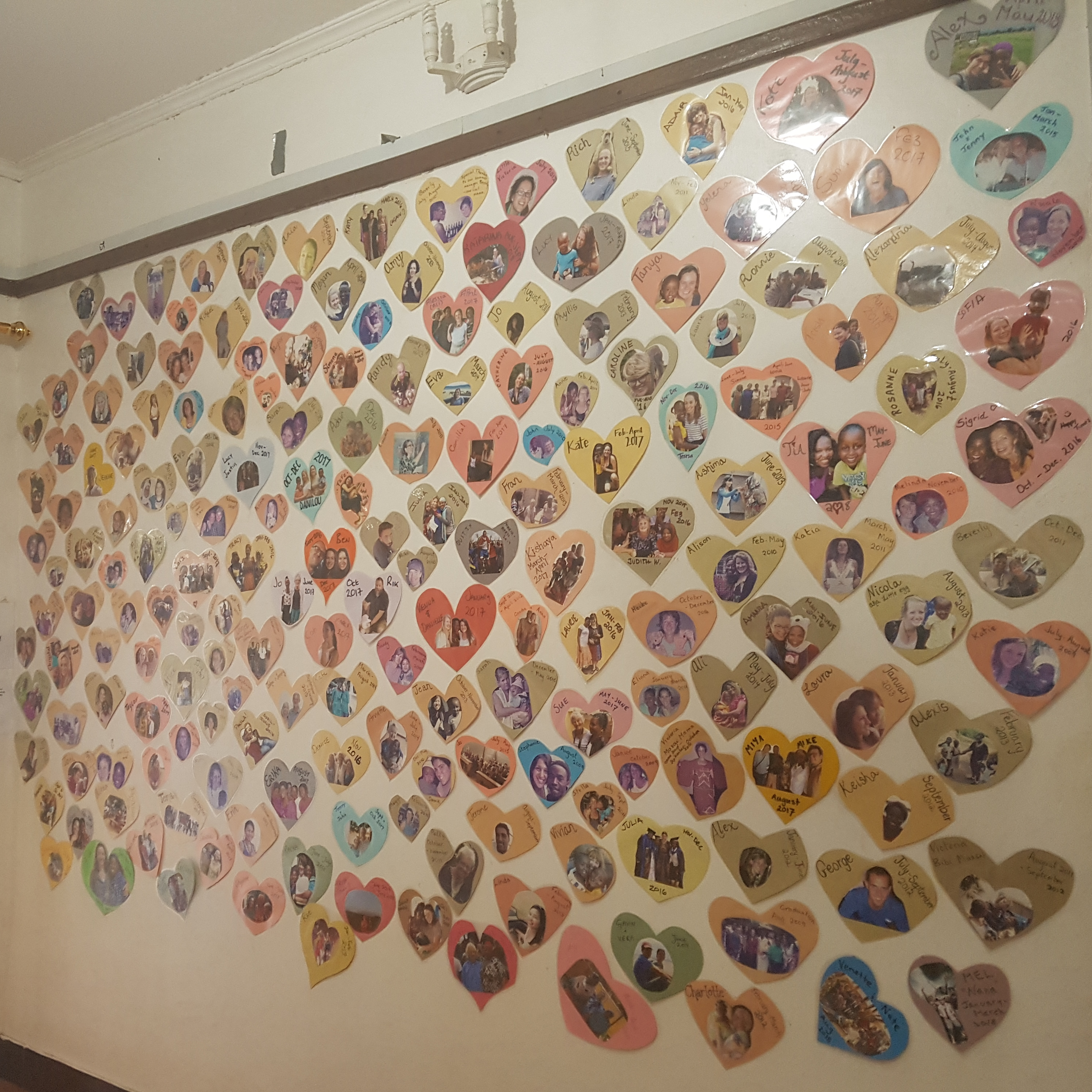 Our Volunteer Wall