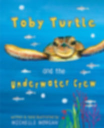 Childrens book, Toby Turtle and the Underwater Crew, Childrens Illustrator