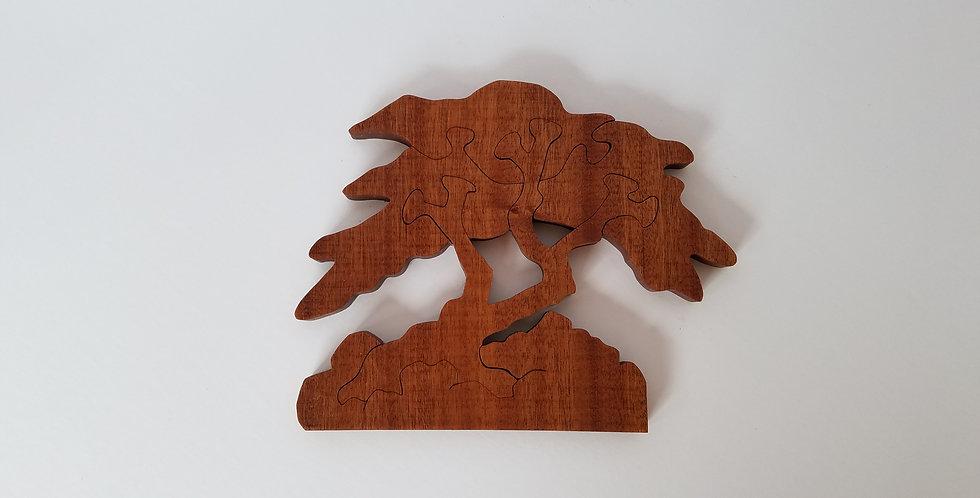 Wood tree toy children's puzzle