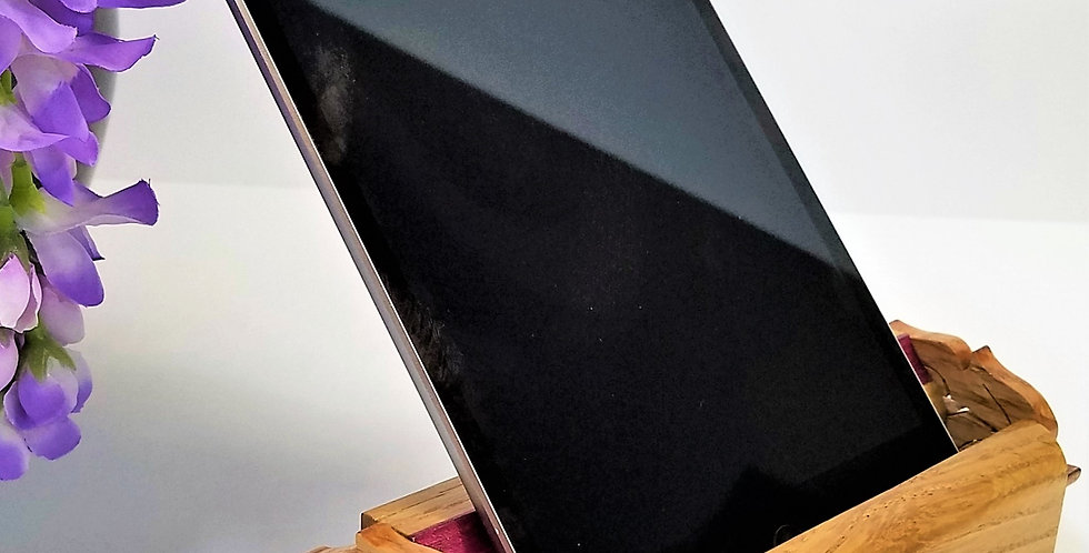 Phone Kindle IPad Dock Station or Holder Old Growth Fir & Black Walnut