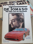 """""""DeTomaso – The Man and the Machines"""" by Wallace Wyss - Cover"""