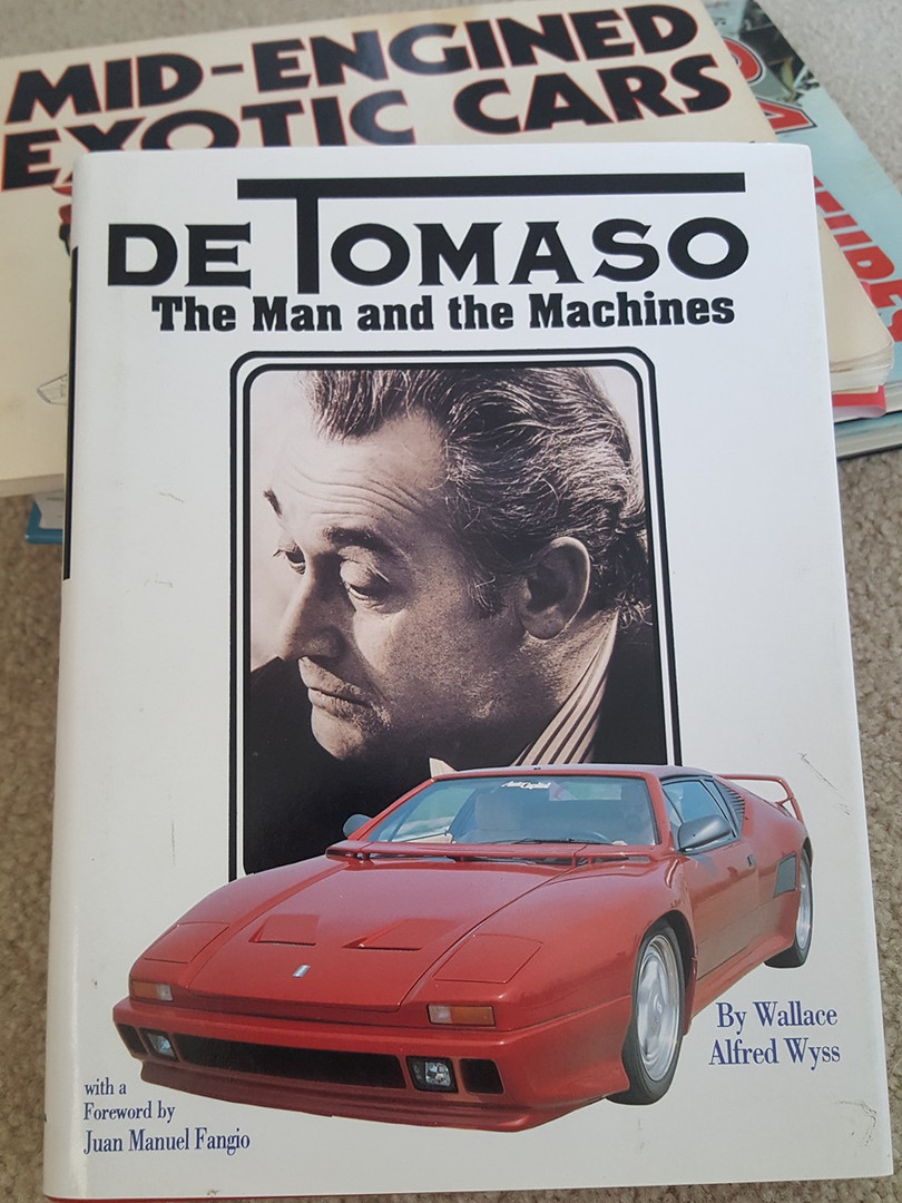 """DeTomaso – The Man and the Machines"" by Wallace Wyss - Cover"