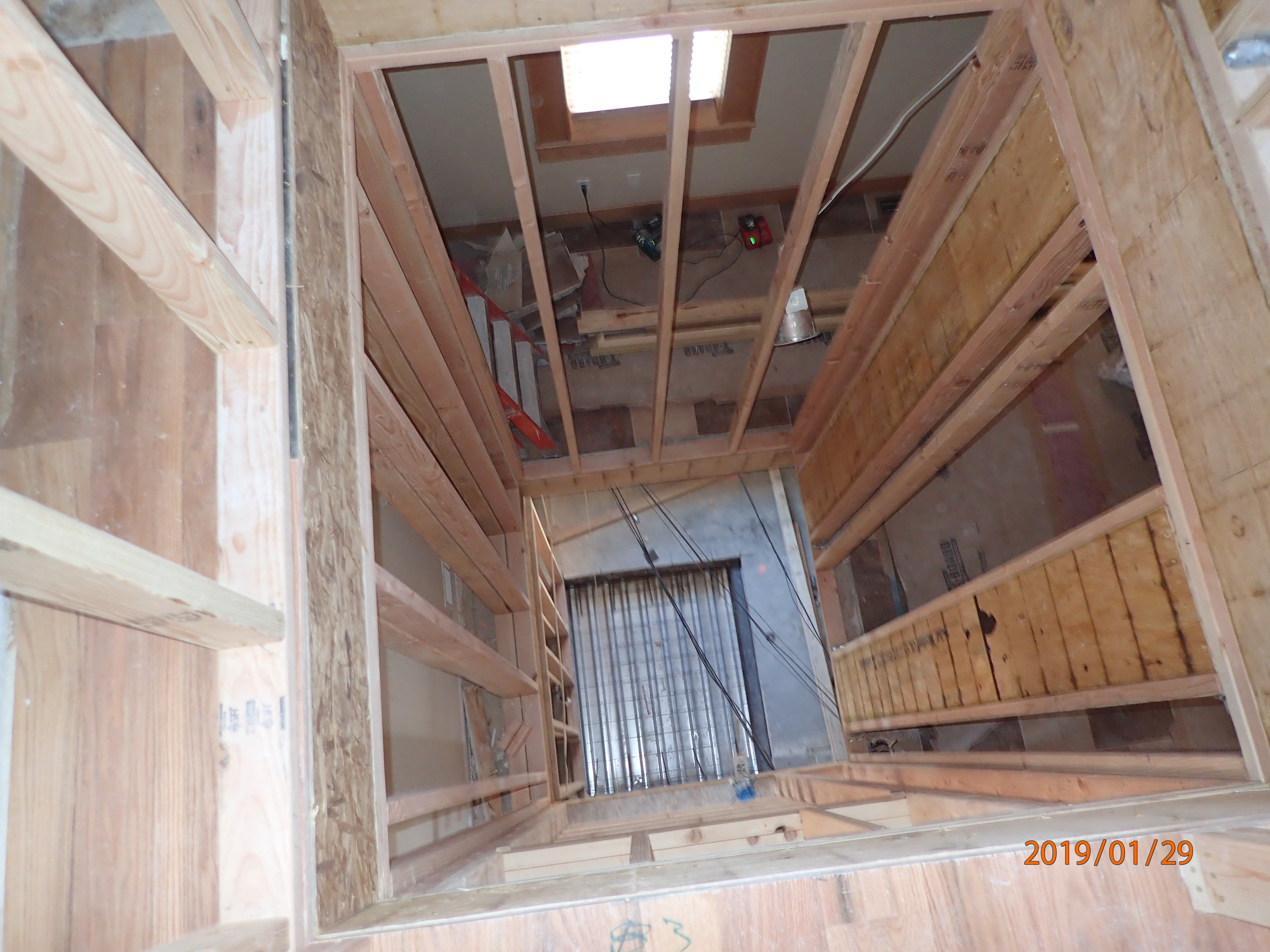 Residential Elevator Core Installation