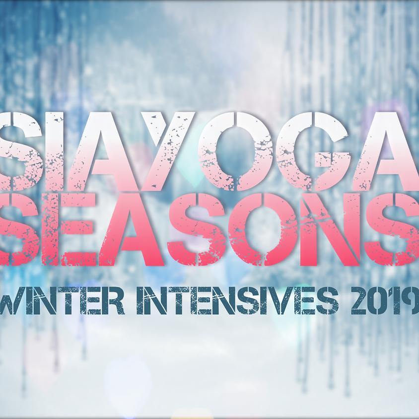 "SIAYOGA SEASONS ""Winter Intensives 2019"" | Der weiße Garten"