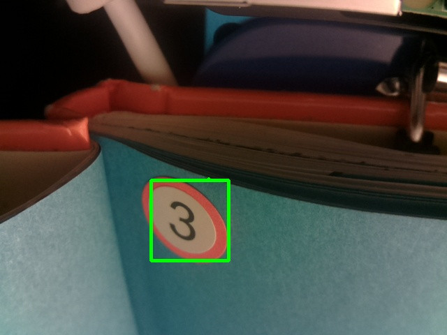 BeWithMeReader detecting page sticker on book using Xailient Detector