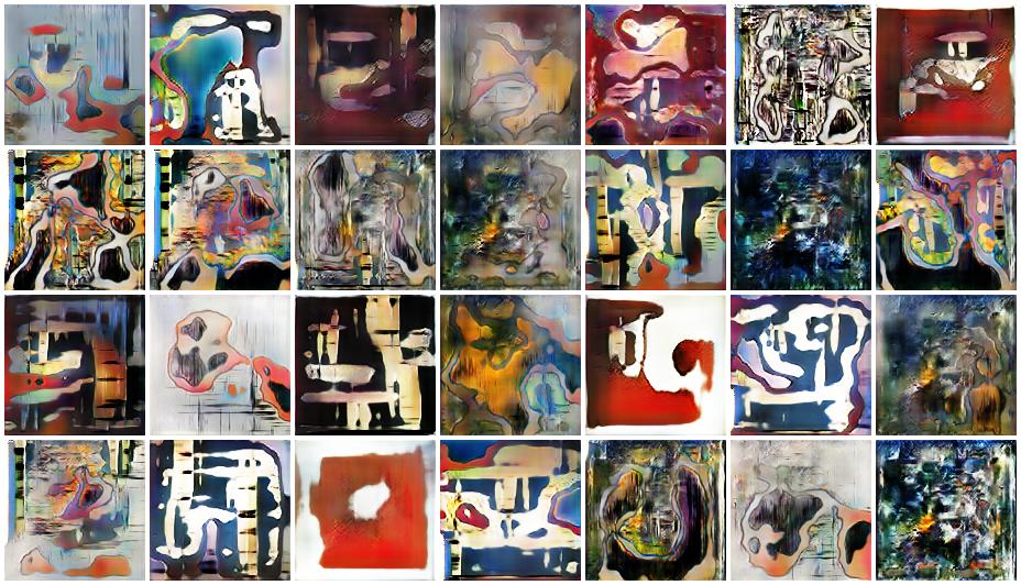 Modern art generated by GAN