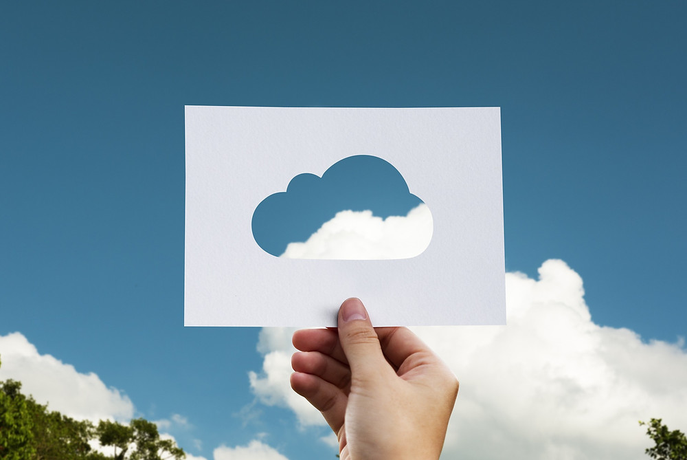 Paper cut cloud looking at the clouds (Image by rawpixel from Pixabay)