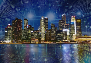 Smart City connected by IoT (Image by Tumisu from Pixabay)