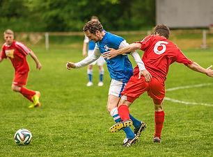 Der Kampf für die Fußball-Spielball
